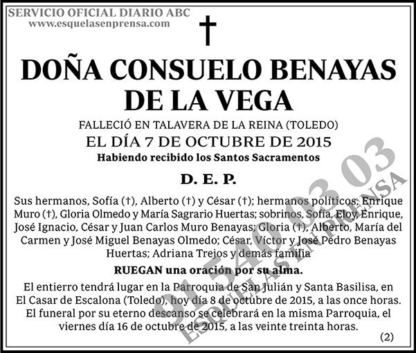 Consuelo Benayas de la Vega